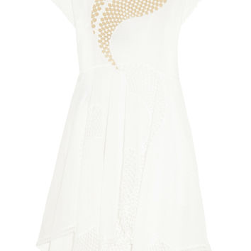 Clotilde broderie anglaise cotton-blend and tulle dress | Stella McCartney | US | THE OUTNET
