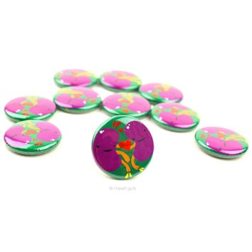 *NEW* - Kidneys in Love Buttons - Set of 10