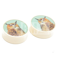 Vintage Owl BMA Plugs (2.5mm-60mm)