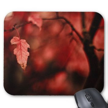 Red Leaves - Pretty Tree Mousepad