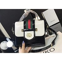 GUCCI 2018 spring and summer women's fashion trend shoulder bag F-AGG-CZDL White