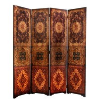Faux Leather 6-foot Olde-Worlde Baroque Room Divider (China) | Overstock.com Shopping - The Best Deals on Decorative Screens