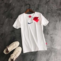Nike AIR MAX White Women Simple T-shirt