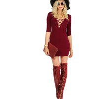 Burgundy Tied Down Tunic