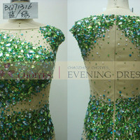 BQ71316 high neck emerald green heavy beaded evening dresses abendkleid, View emerald green evening dress, Choiyes Product Details from Chaozhou Choiyes Evening Dress Co., Ltd. on Alibaba.com