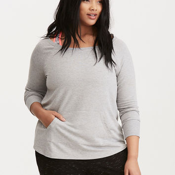 Torrid Active - French Terry Off Shoulder Tunic