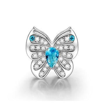 NinaQueen? *Butterfly Fairy* 925 Sterling Silver Butterfly Charms, Fits Pandora Charms