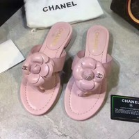 Chanel 2018 classic counter female Camellia fisherman shoes F-XNR-YFX pink