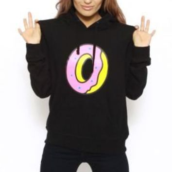 Odd Future, Single Donut Women's Pullover Hoodie - Black :: Odd Future Women :: MOOSE Limited