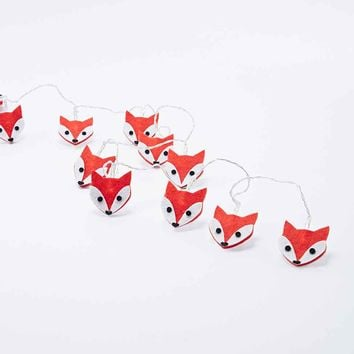 String Felt Fox Fairy Lights - Urban Outfitters