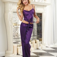 Sensuous Satin Loungewear Cami and Pant