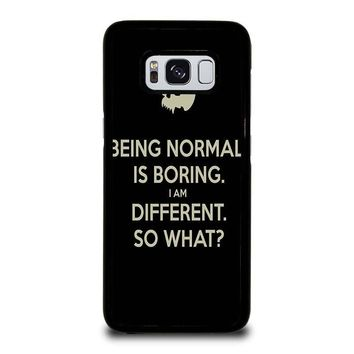 NORMAL IS BORING QUOTES Samsung Galaxy S3 S4 S5 S6 S7 Edge S8 Plus, Note 3 4 5 8 Case Cover