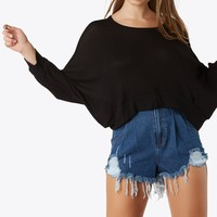 Homebound Waffle Knit Top