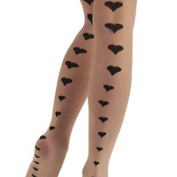 ModCloth Rockabilly Seams Like Love Tights