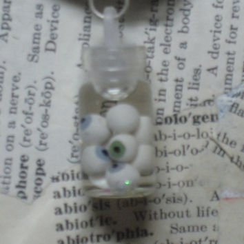 Eyeball jar necklace