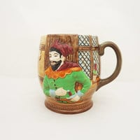 Vintage Beswick Mug, The Merry Wives of Windsor, Falstaff, Shakespeare, Beswick Ware, Vintage Beswick