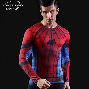 Batman Dark Knight gift Christmas 2016New Fitness Compression Tops & T-shirts Men Superman Captain America Batman Spiderman Iron Man tshirt Gentle Clothing AT_71_6