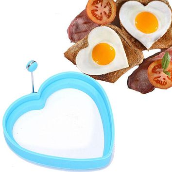 1Pc Silicone Molds For Eggs Heart Shape Mold Fry Fried Egg Ring Pancakes Form For Eggs Cooking Tool