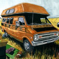 """Uncle Rico's Van"" by Cuyler Smith $15.00"