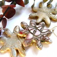 Christmas Decorations Set of Three Handmade Ceramic Ornaments by DovecoteDesign on Zibbet