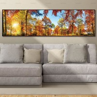 wall picture canvas painting landcape art  print and posters trees picture  wall art Painting decoration for living room