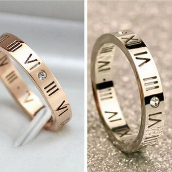 ca DCCKTM4 New Arrival Stylish Shiny Jewelry Gift Roman Couple Silver Ring [11030792391]