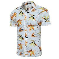 Men Hawaiian Summer Casual Beach Shirts size sml