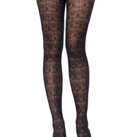 Chandelier Lace Net Tights