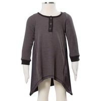 Riley Long Sleeve Tunic Charcoal