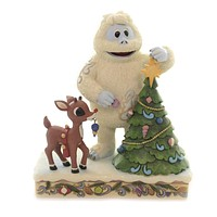 Jim Shore RUDOLPH WITH BUMBLE STAR ON TRE Polyresin Christmas 6004145