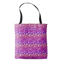Personalized Sunset Hearts Tote Bag