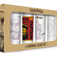 Captain Morgan Hi Balls (Set of 4), Clear
