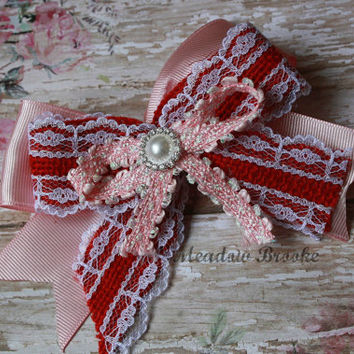 VALENTINE BOW , headband, clip, baby girl, toddler girl, adult, pink, red, lace, pearl, photo prop, burlap, over the top, matilda jane