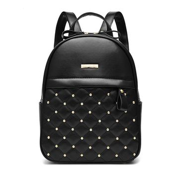 2017 Fashion PU Leather Backpack Mochila Mujer Men's Backpack Bag Laptop Backpacks Rucksack Sac A Dos Package Rugtas Small