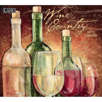 Lang 2017 Wall Calendar, Wine Country