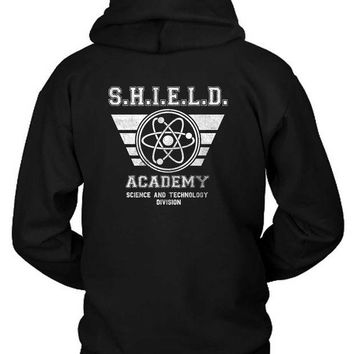 DCCKG72 Marvel Shield Academy Science And Tech Hoodie Two Sided