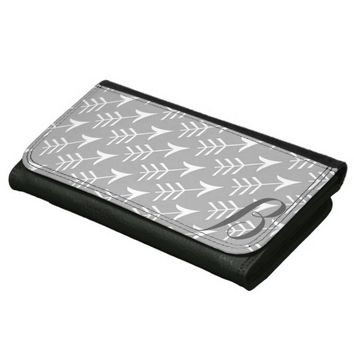 Grey and White Arrows with Monogram Wallets