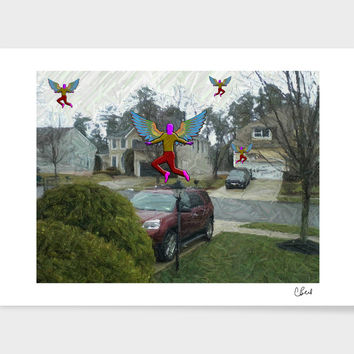 «Angels» Art Print by Casey Bell - Exclusive Edition from $24.9 | Curioos