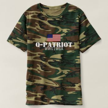 Q-PATRIOT WWG1WGA MEN'S TRUMP QANON T-SHIRT