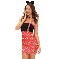 sexy-womens-funny-4pcs-set-halloween-costume-dot-print-sleeveless-mini-bodycon-dress-gloves-choker-hairpin-bunny-cosplay-clothes BBL