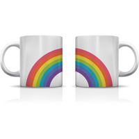 """Double Rainbow"" Set of Mugs by OneBellaCasa"