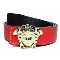 Versace Woman Men Fashion Leather Belt