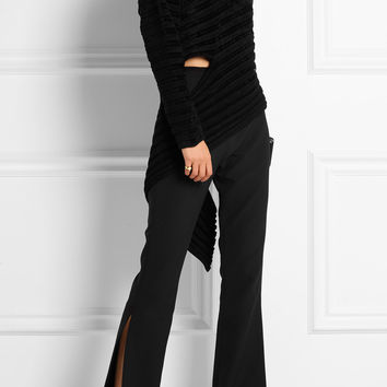 Esteban Cortazar - Asymmetric ribbed-knit chenille turtleneck sweater