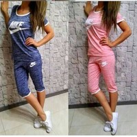 Fashion Online Nike Fashion Leisure Sports Set Two-piece