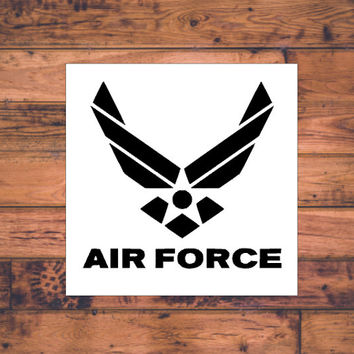 Air Force Decal | Military Decal | US Air Force Sticker | Air Force Car Decal | Military Support | Car Decal | Car Stickers | Bumper | 013