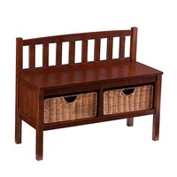 Wildon Home ® Espresso Storage Bench