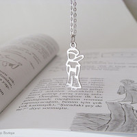 The Little Prince Necklace - Le Petit Prince - Matte Original Rhodium Plated