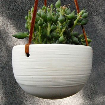 Scribble Hanging Planter by PigeonToeCeramics on Etsy