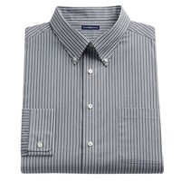 Croft & Barrow Fitted Striped Easy-Care Button-Down Collar Dress Shirt