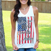 One Big Country Nation Tank {Cream}